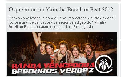 Vencedores Do Yamaha Brazilian Beat - Besouros Verdez